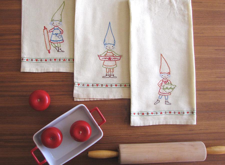 kitchen gnomes embroidery pattern