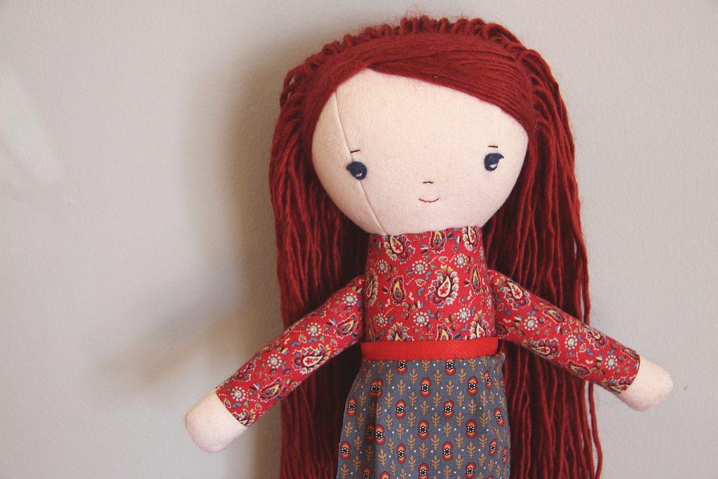 handmade doll at wee wonderfuls
