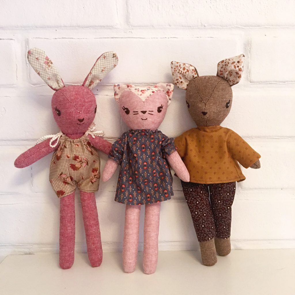 Wee Wonderfuls Make-Along Animal sewing pattern