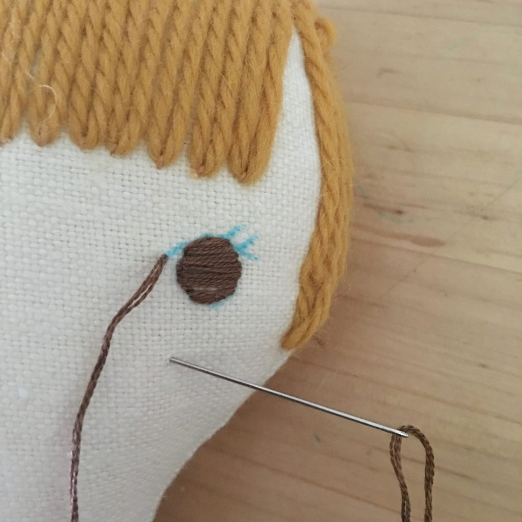 doll making how-to's, embroidering eyes