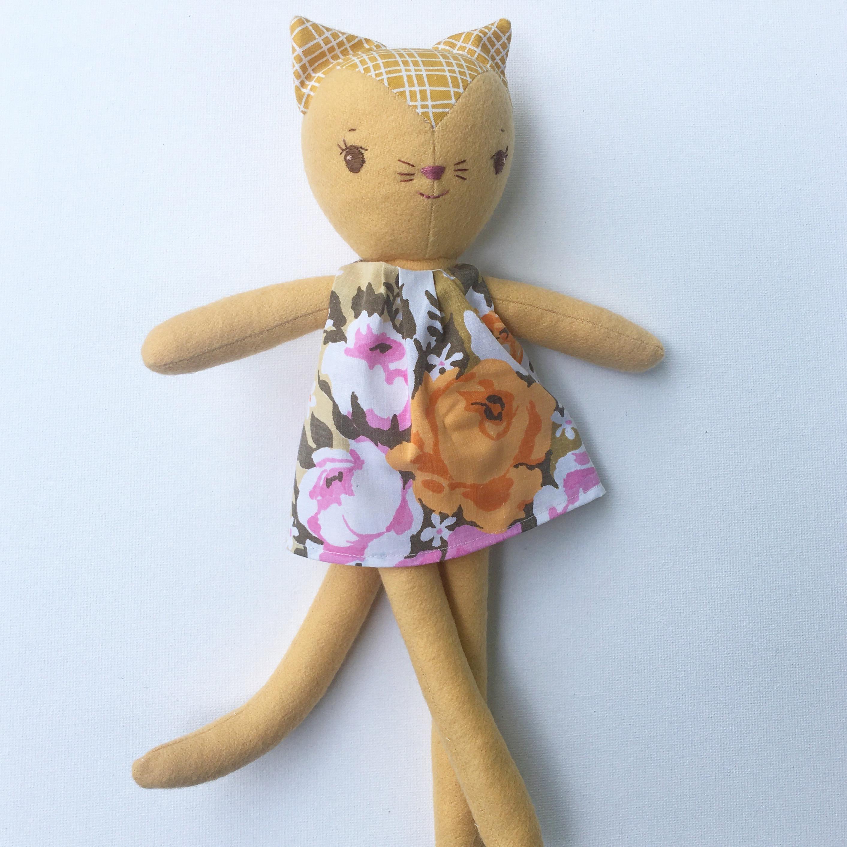 handmade kitty doll