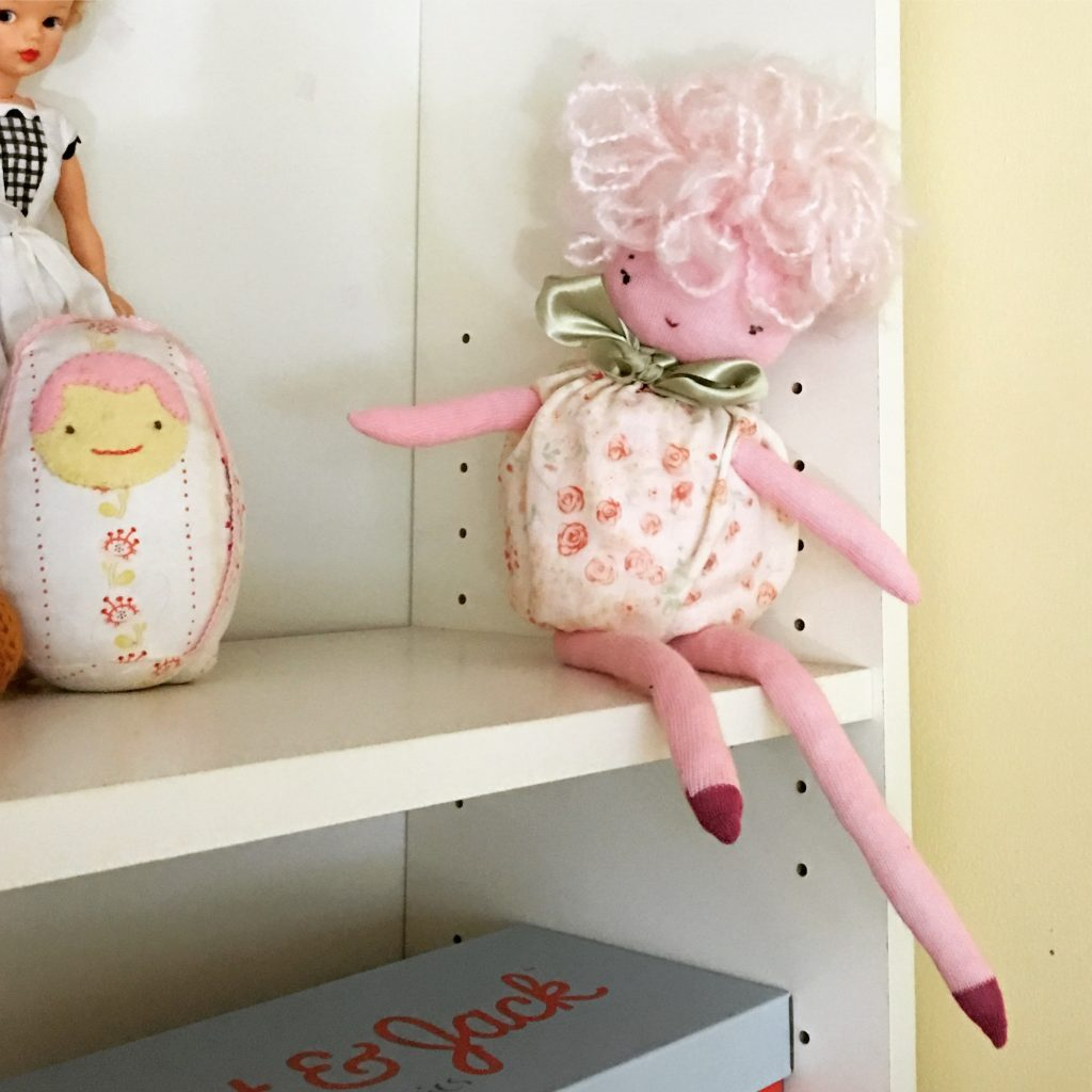 Handmade doll sewing pattern from book Wee Wonderfuls: 24 Dolls to Sew and Love