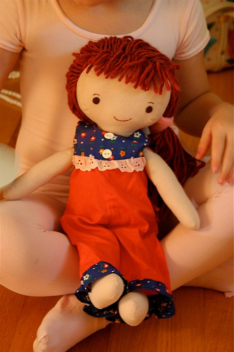 Louise doll in vintage doll clothes