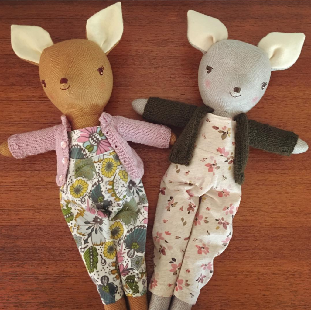 makealong dolls and sweater patterns at wee wonderfuls