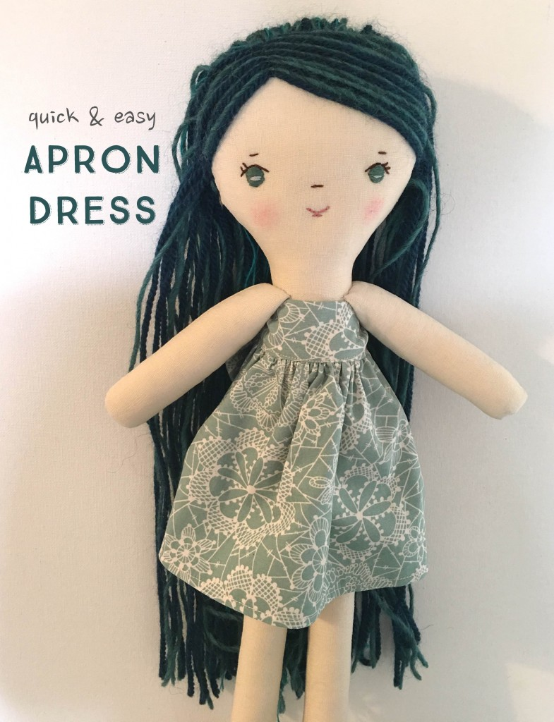 free dollmaking tutorials at wee wonderfuls: quick and easy apron doll dress