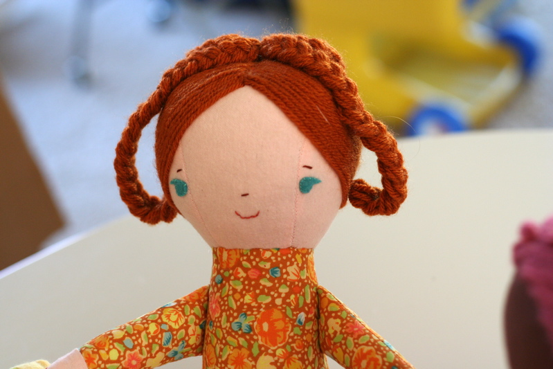 braided crown on doll for Land of Nod