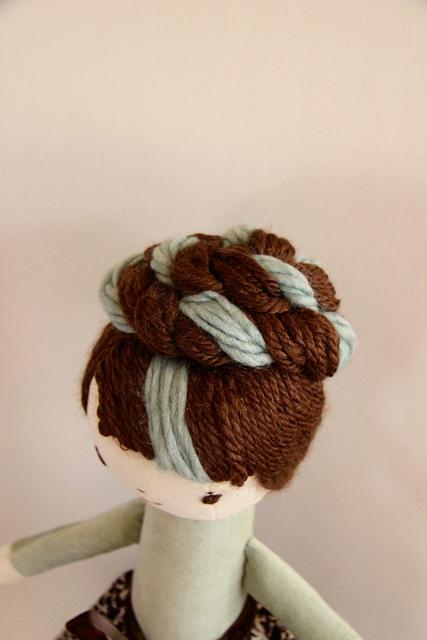 doll braided bun