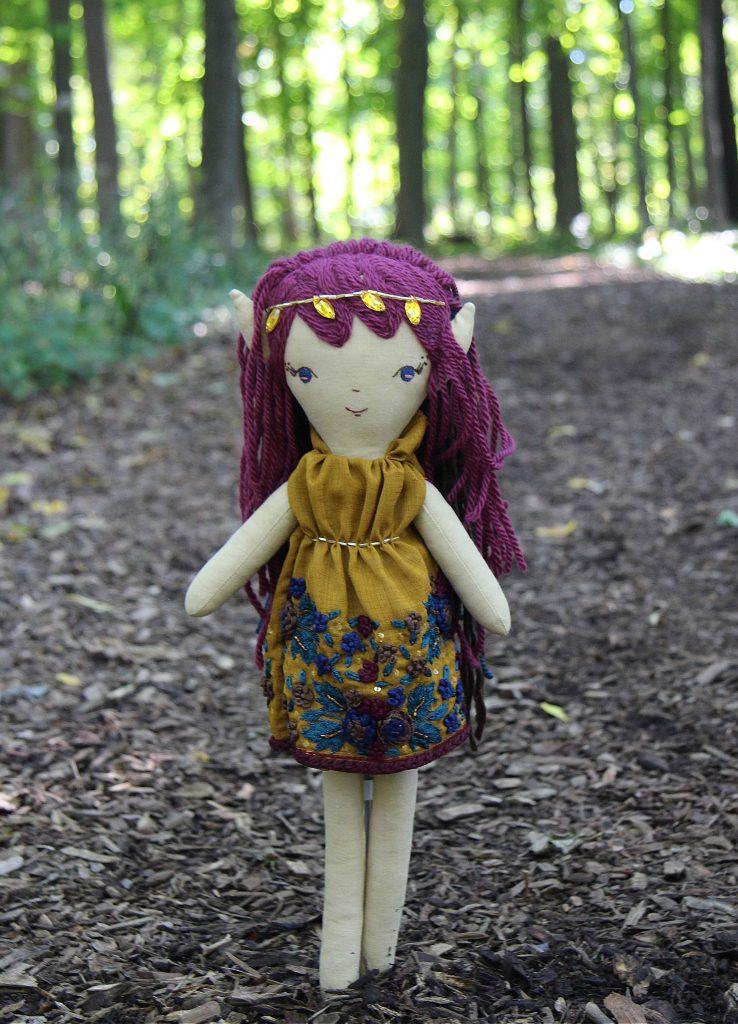 handmade elf doll at wee wonderfuls
