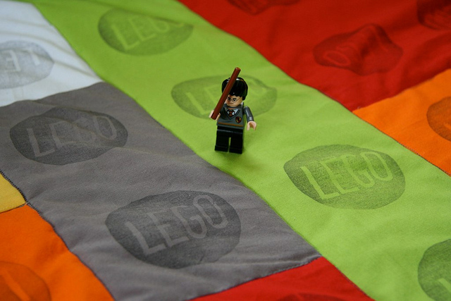 lego stamped quilt