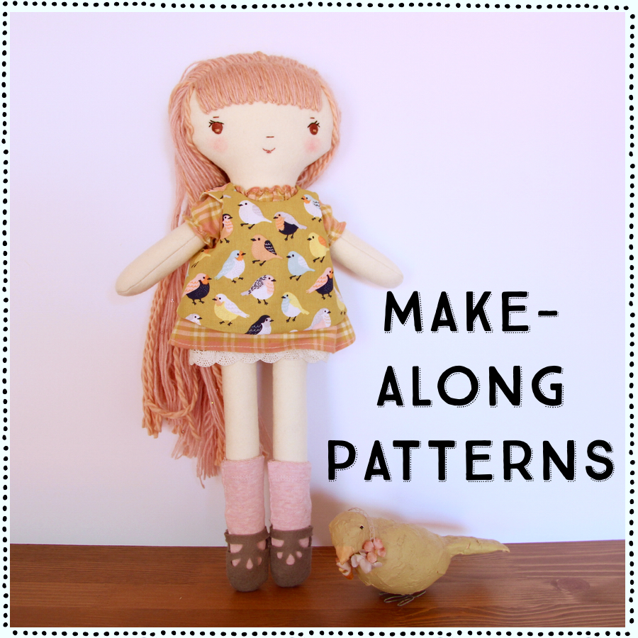Handmade Doll Sewing Patterns: the Make-Along Pattern Subscription