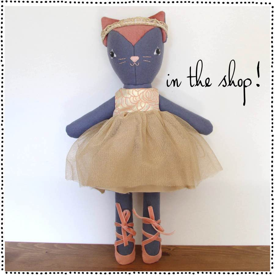 Original One of a Kind Handmade Dolls for Sale, Kitty Doll