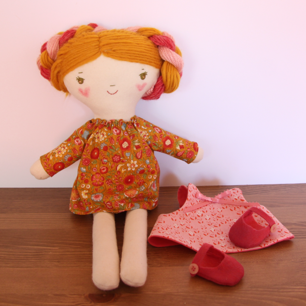 handmade dolls and sewing patterns for sale at wee wonderfuls
