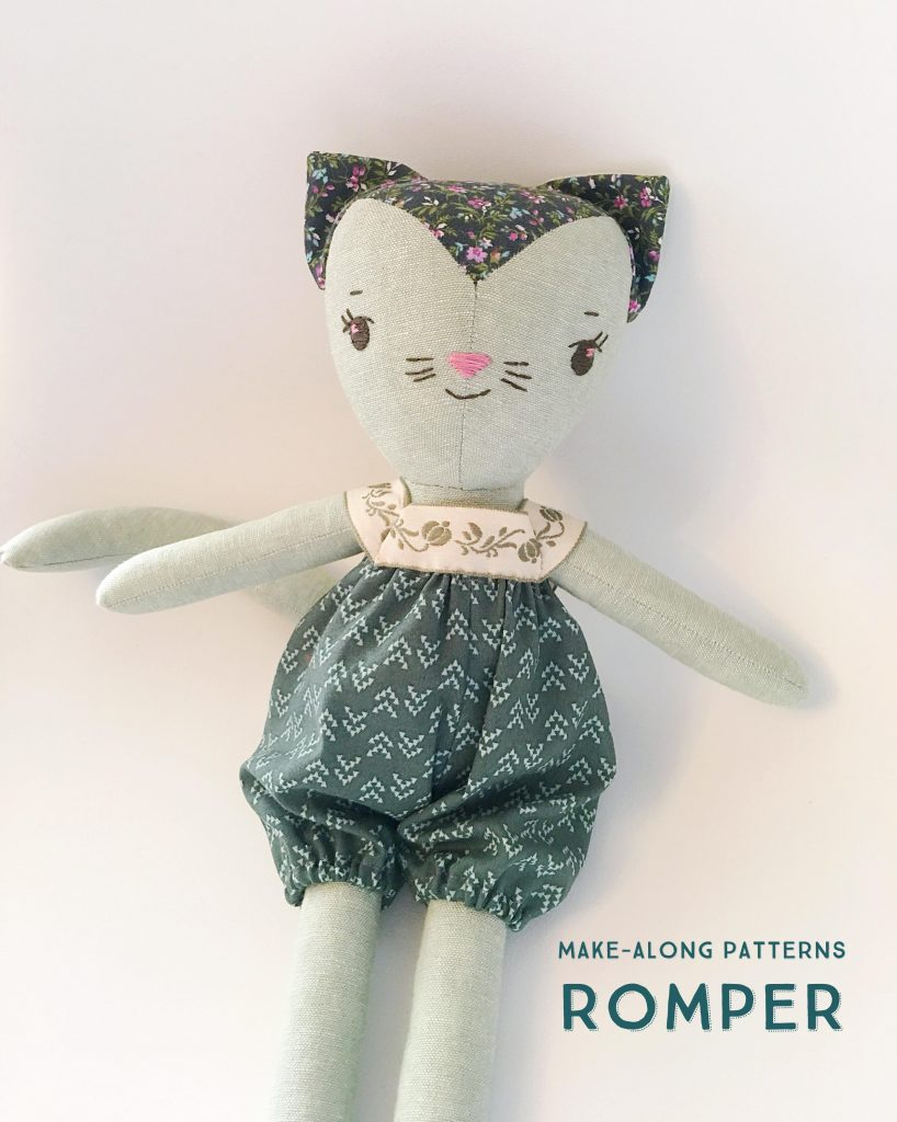 wee wonderfuls doll clothes pattern and tutorial : romper