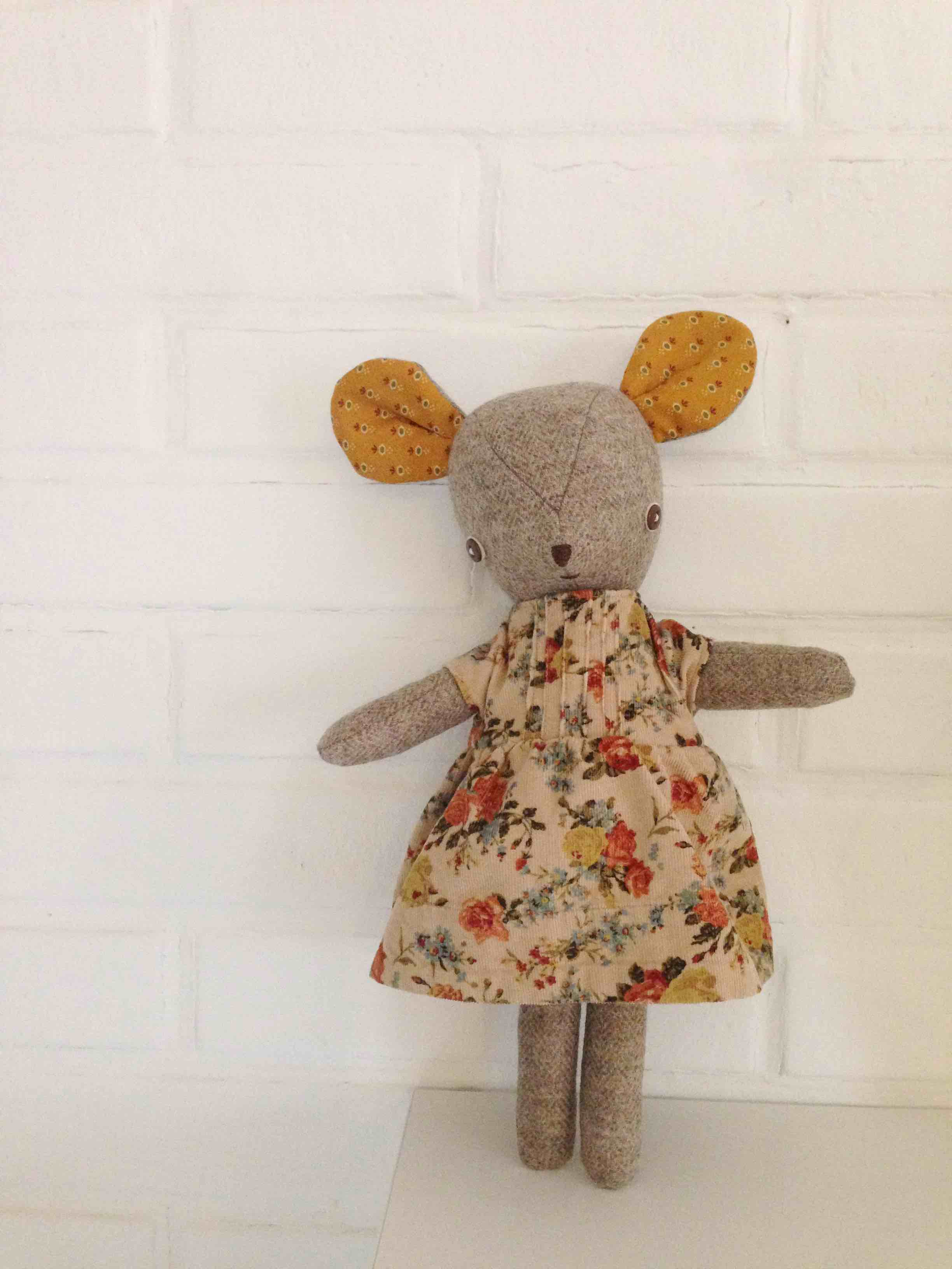 mouse doll in dress