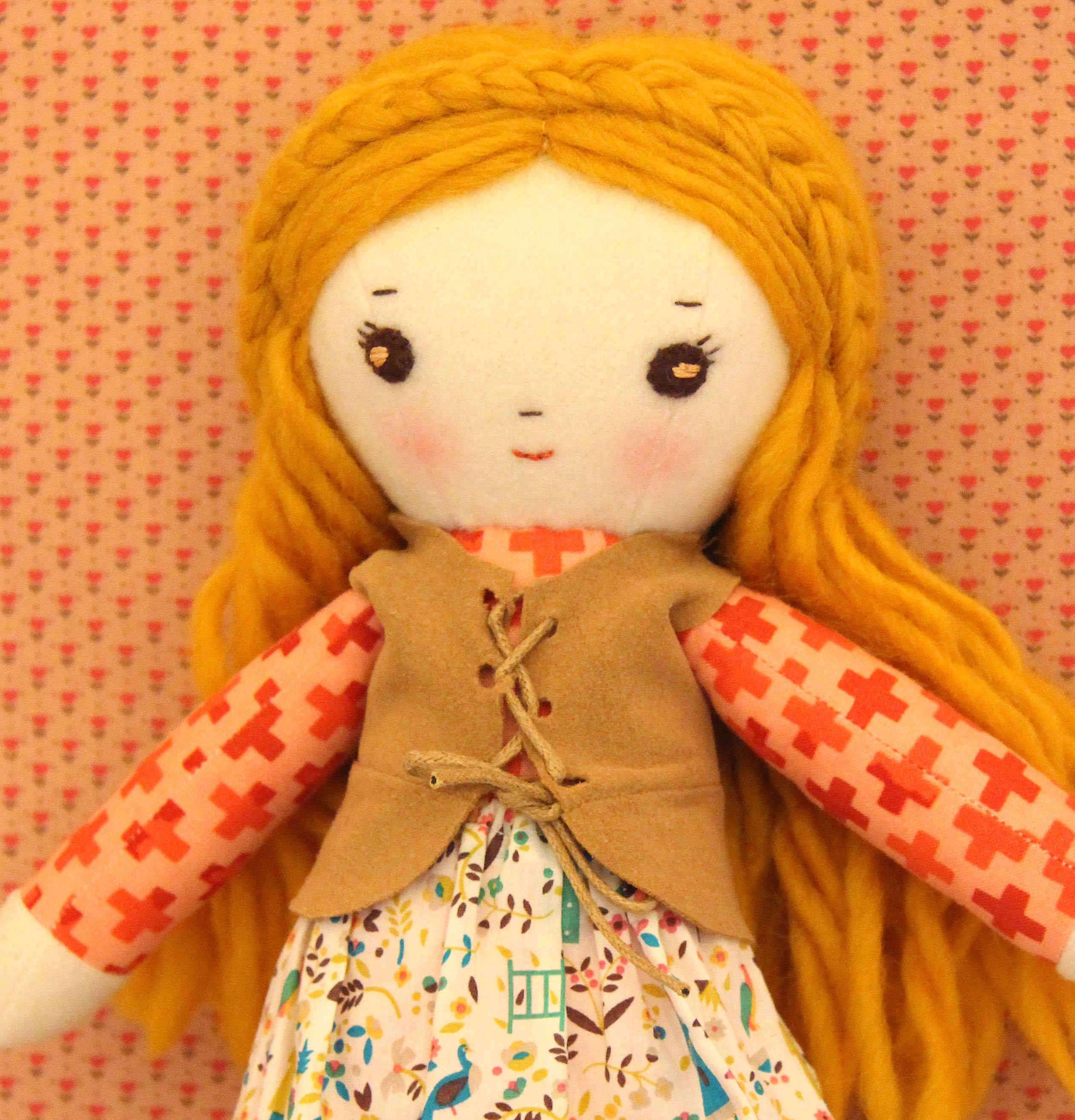 Elsa doll sewing pattern