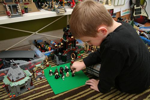 oscar playing with legos
