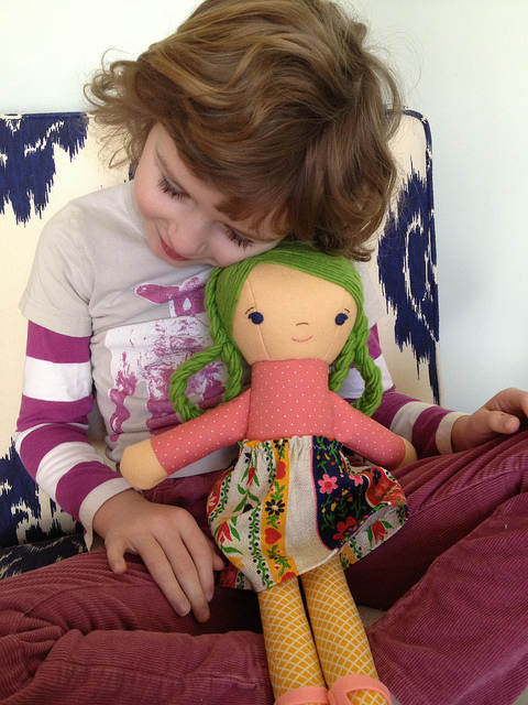 phoebe and green haired doll
