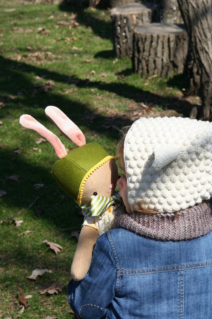 handmade bunny doll at weewonderfuls.com