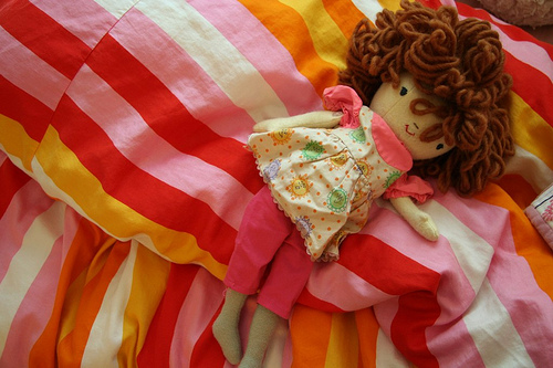 Phoebe's doll in vintage clothes