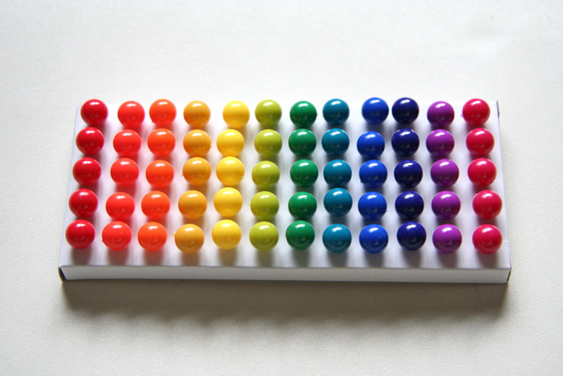 rainbow push pins