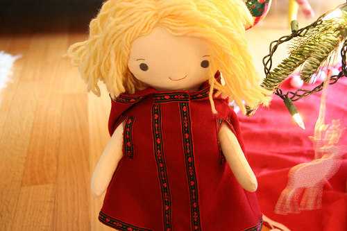 doll clothes red hooded cape at wee wonderfuls