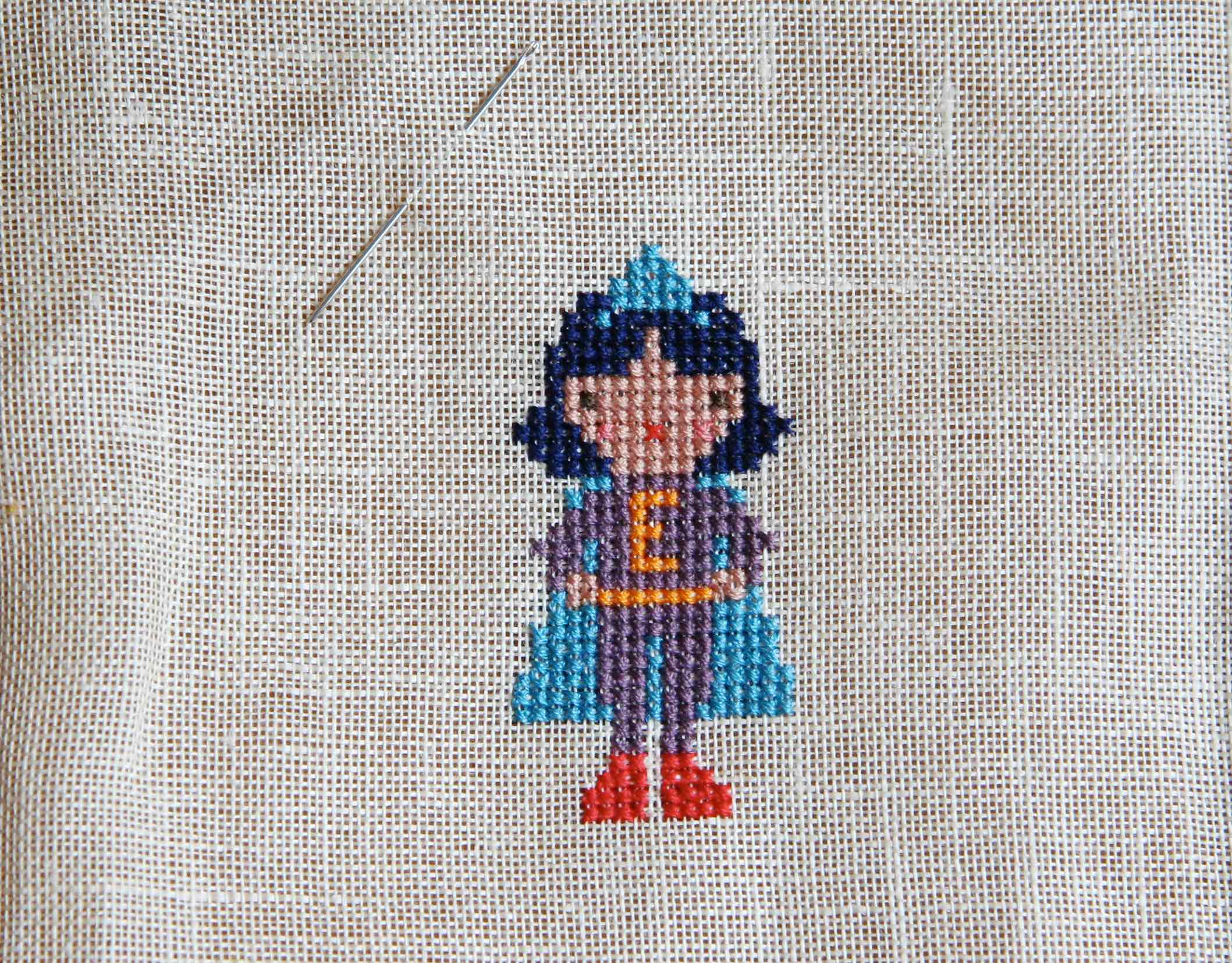 superhero cross stitch