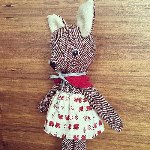 tweed deer doll