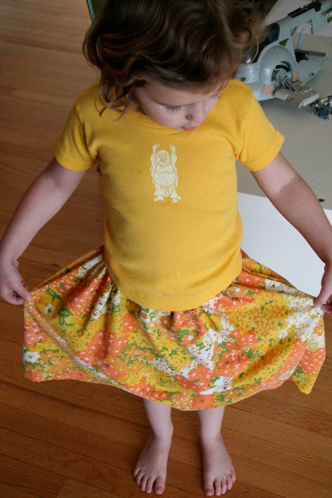 vintage fabric skirt