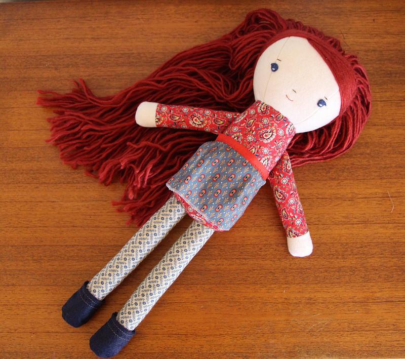 virginia, a handmade original doll at wee wonderfuls