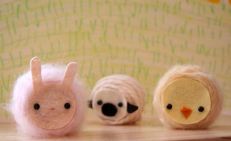 Yarn Wrapped Spool Animals Wee Wonderfuls